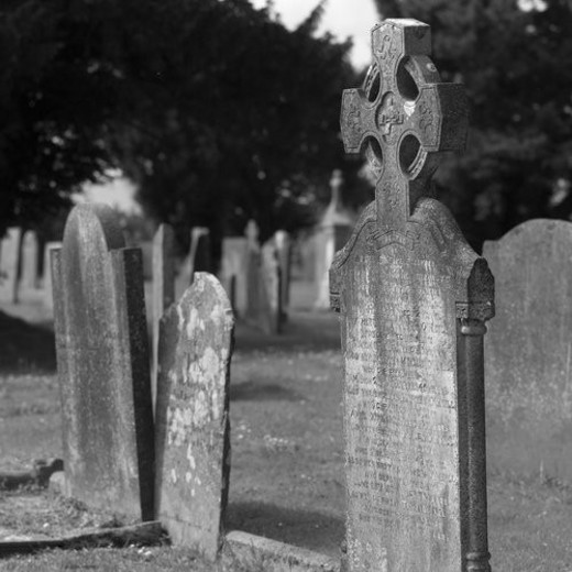 Ireland - Celtic Cemetery : Stock Photo
