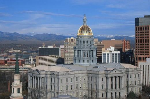 Stock Photo: 4029R-306097 State Capitol of Colorado, Denver