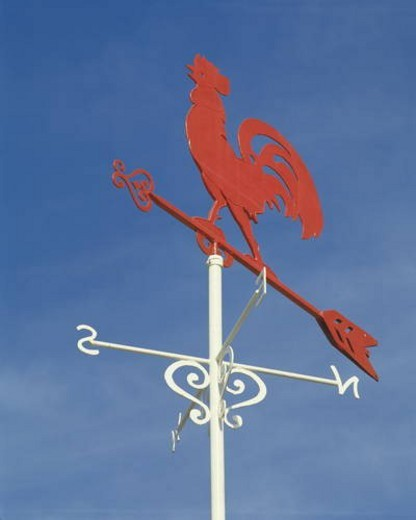 Stock Photo: 4029R-306393 Weather vane
