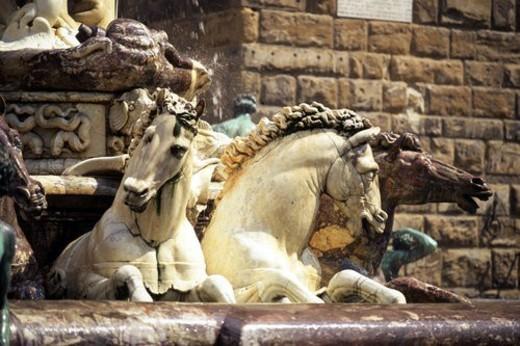 Piazza della Signoria - fountain detail : Stock Photo