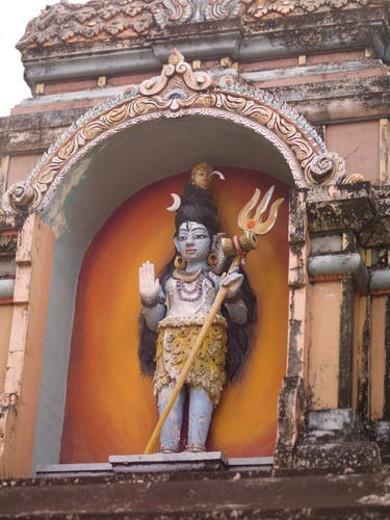 Statue at Hindu Temple in Kerala India : Stock Photo