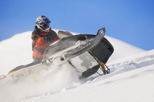 A skidoo in action : Stock Photo