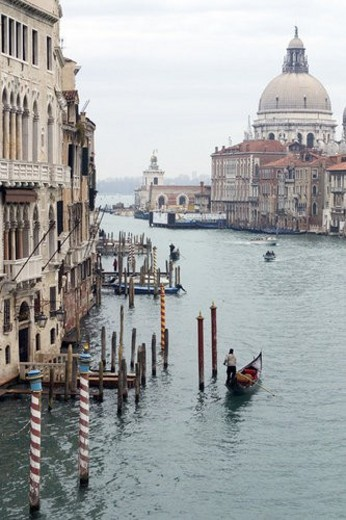 Santa Maria della Salute and Custom House : Stock Photo