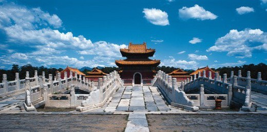 Stock Photo: 4029R-31125 Inner scene of Qingxi Tomb,Beijing