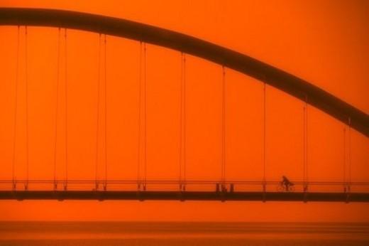 Stock Photo: 4029R-312131 Suspension bridge