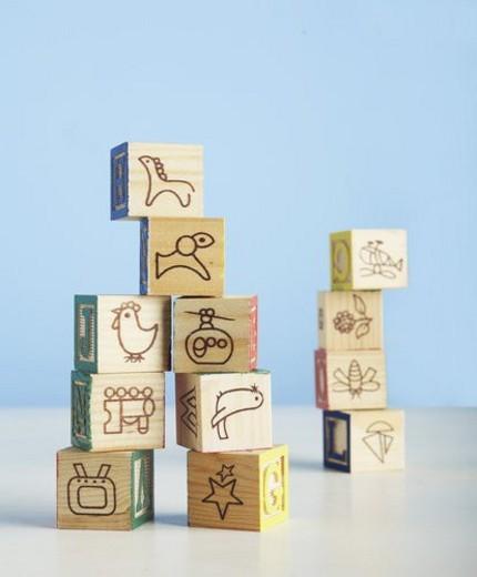 Stock Photo: 4029R-313014 Wooden Toy Blocks
