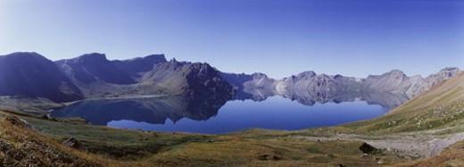 Stock Photo: 4029R-316427 nature, landscape, heavenly lake, cheon-ji, mountain, scenery