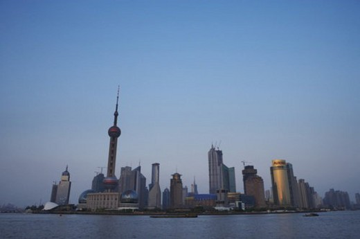 Stock Photo: 4029R-317041 Pudong Skyline, Shanghai, China