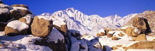 Stock Photo: 4029R-317552 Sunrise at 14,494 feet, Mount Whitney near Lone Pine, California