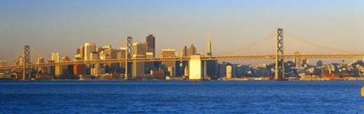 Bay Bridge & San Francisco : Stock Photo