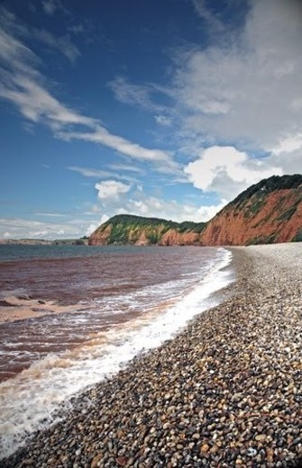 Stock Photo: 4029R-32779 Shoreline along the English Channel