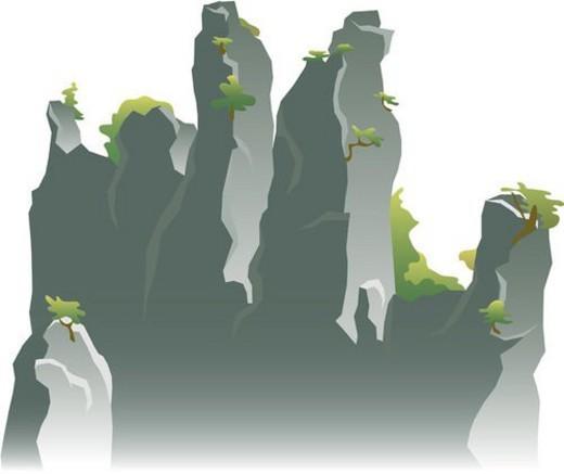 scenery, cliff, landscape, mountain : Stock Photo