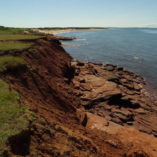 Stock Photo: 4029R-331854 Coast line of Prince Edward Island, Canada