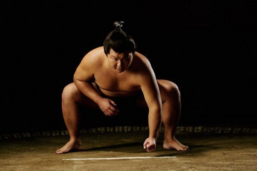 Stock Photo: 4029R-331881 Sumo wrestler