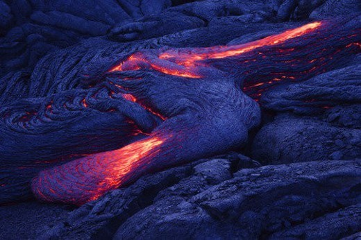 Lava flow : Stock Photo