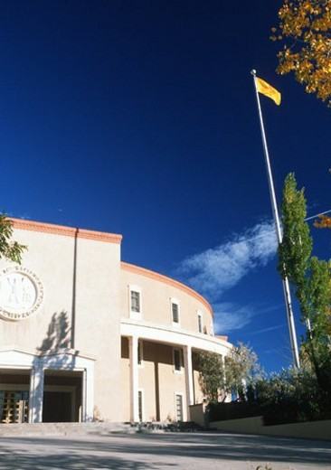 Stock Photo: 4029R-334633 State Capitol of New Mexico, Santa Fe