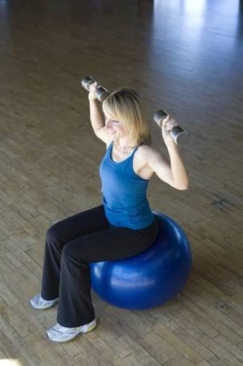 effort, 30s, dan Galic, cardio, ball, exercise, 20s : Stock Photo