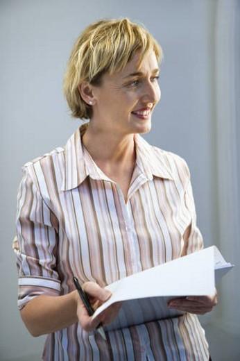 Businesswoman smiling. : Stock Photo