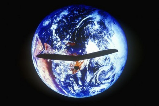 Stock Photo: 4029R-33902 Earth and a hang glider as viewed from space