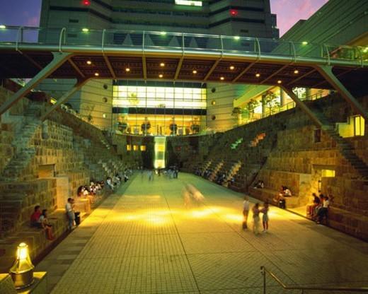 the Dog Yard Garden Inside the Landmark Tower at Sakuragicho, Yokohama City, Kanagawa Prefecture, Japan : Stock Photo