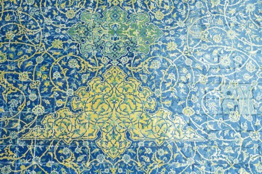 Stock Photo: 4029R-341643 The wall of the mosque, Iran, Close Up