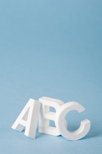 Letters A, B and C : Stock Photo