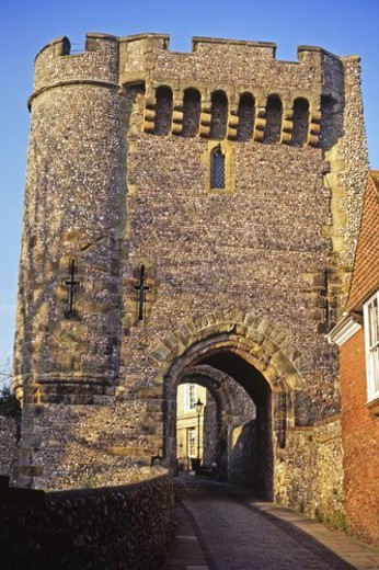 Stock Photo: 4029R-347219 Lewes Castle near Brighton, UK