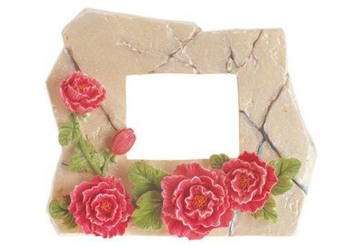 rim, frame, clay, flower, rose : Stock Photo