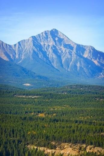 Stock Photo: 4029R-348329 Mountains in Jasper National Park, Alberta, Canada