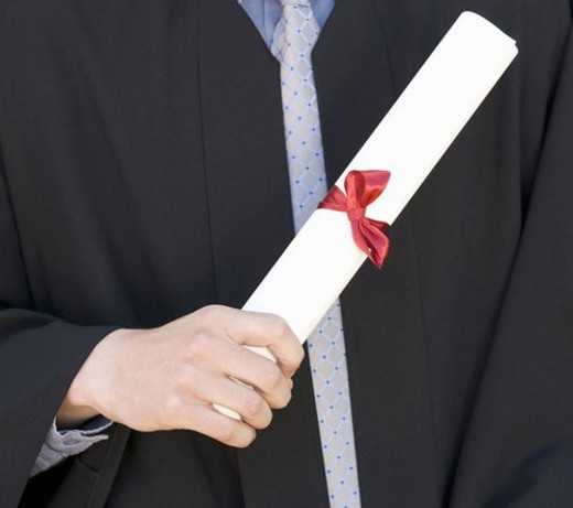 Stock Photo: 4029R-350873 A graduate, close-up