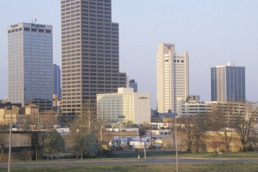 Stock Photo: 4029R-353480 State capital and skyline in Little Rock
