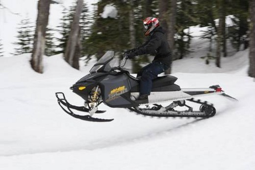 Stock Photo: 4029R-354482 snowmobile adventure tour in Whistler British Columbia