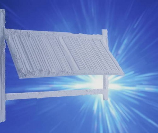Stock Photo: 4029R-35490 Textured painted shutter with sunlight shining on it