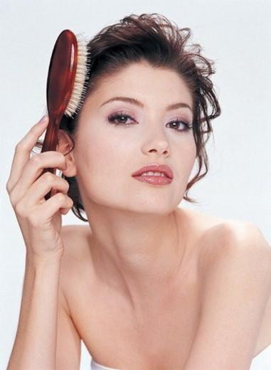 Body Care, Hairbrush, Beauty : Stock Photo
