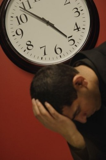 Stock Photo: 4029R-360219 Pressure of time