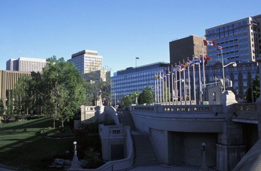 View of government buildings : Stock Photo