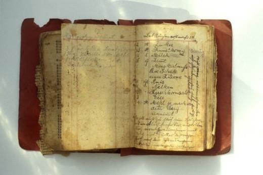 Stock Photo: 4029R-360941 Bernhard, CLOSE, books, book, antiquated