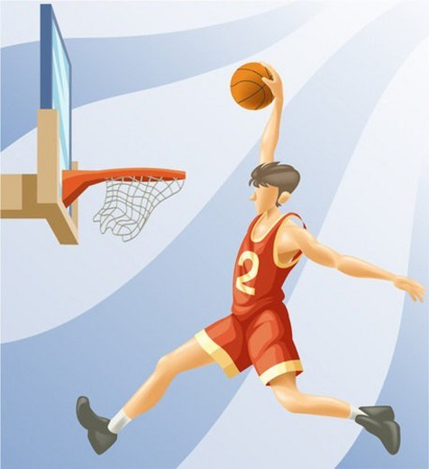 Stock Photo: 4029R-36271 dunk, sports, dunk shoot, ball, player, olympics