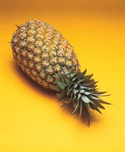 fruit, thorn, fresh, pineapple : Stock Photo
