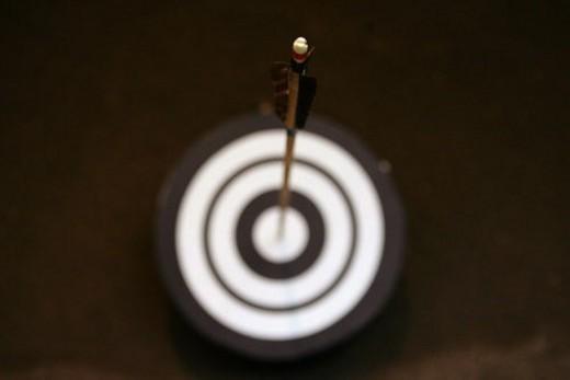 Kyudo, Japanese archery, arrows, aim : Stock Photo