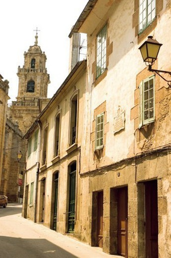 Spain, Galicia, Mondoñedo, Street, Building, Buildings, House : Stock Photo