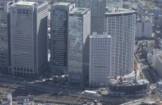 Konan Area, Aerial View, Pan Focus : Stock Photo