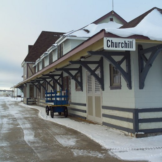 Churchill Northern Manitoba Churchill Train Station : Stock Photo