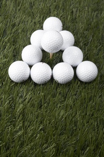 Golf Balls on Grass : Stock Photo