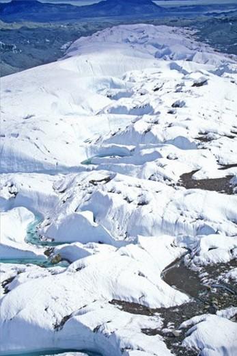 Stock Photo: 4029R-376046 Aerial view of an Alaskan glacier