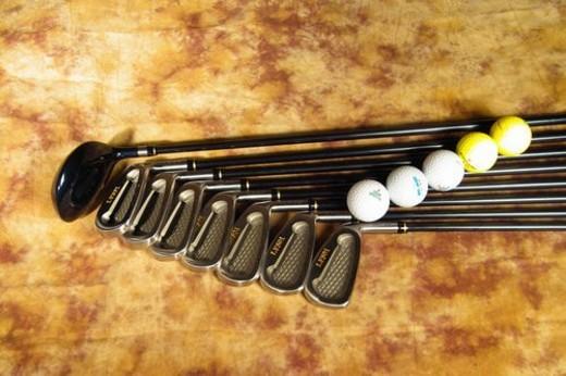 Stock Photo: 4029R-378295 sports equipment, club, golf, leisure, sports, golf ball, ball