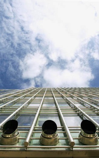 Exhaust ventilation system, office building. : Stock Photo