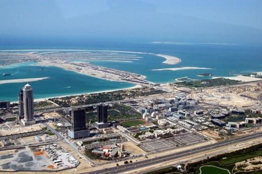 dubai, aerial, dubai, marina, port, plaisance, towers : Stock Photo