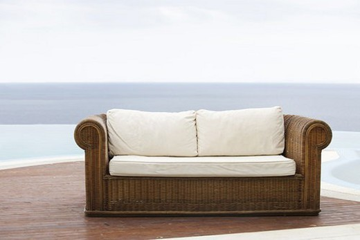 An empty sofa : Stock Photo