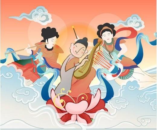 janggu, pattern, priest, Buddhist, korea, ethnic dress : Stock Photo